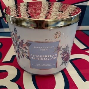 Gingerbread marshmallow 3 wick candle